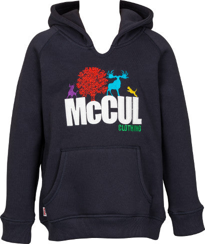 Boys Navy Fleece Hooded Top with McCul Embroidered Logo