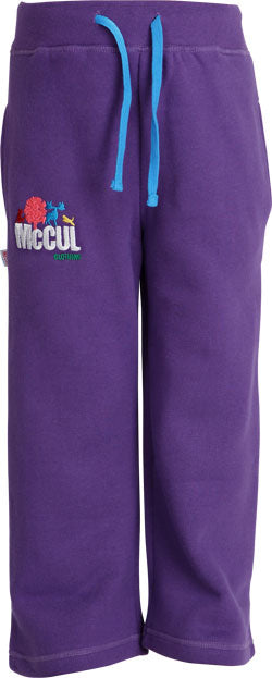 Girls Purple Fleece Jogger with Multi Colour McCul Embroidered Logo