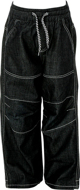 Boys Denim Blue Denim Full Length Jeans with Elasticated Waist and McCul Embroidery