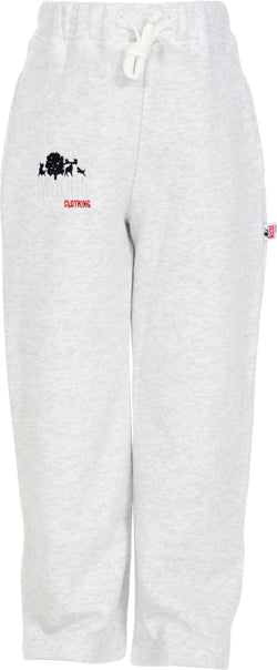 Boys Marl Grey Fleece Jog Pants with McCul Embroidery