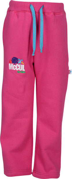 Girls Cerise Fleece Jogger with Multi Colour McCul Embroidered Logo
