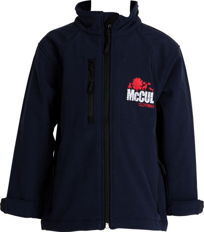 Boys Navy 3 Layer Waterproof Jacket with Full Zip Opening