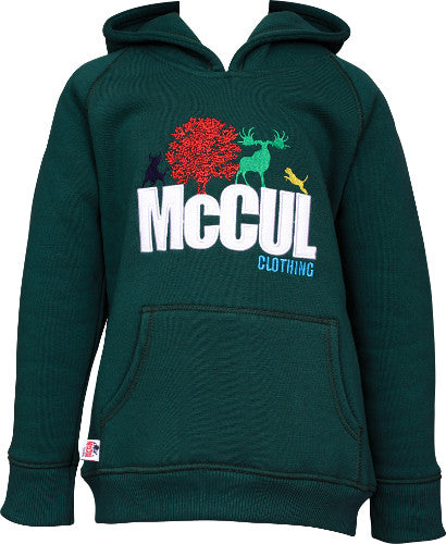 Boys Bottle Fleece Hooded Top with McCul Embroidered Logo