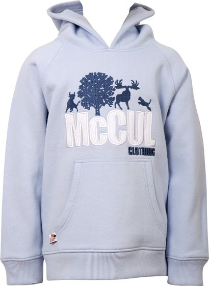 Boys Blue Fleece Hooded Top with McCul Embroidered Logo