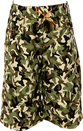 Boys Olive Camo 3/4 Length Denim Jeans with McCul Embroidery