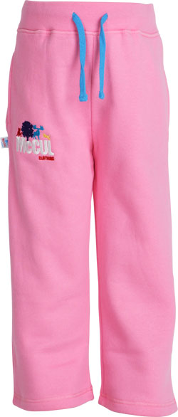 Girls Pink Fleece Jogger with Multi Colour McCul Embroidered Logo
