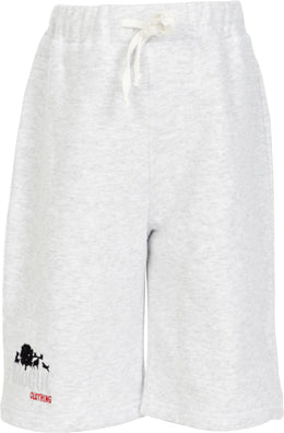 Boys Marl Grey Fleece Shorts with Embroidered Logo
