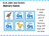 Letter Q- Preschool Letter of the Week Unit