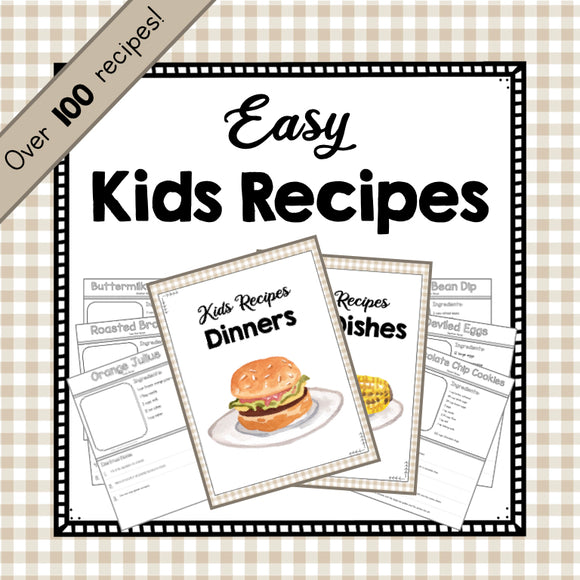 Easy Recipes for Kids!