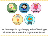 Singing Time Signs