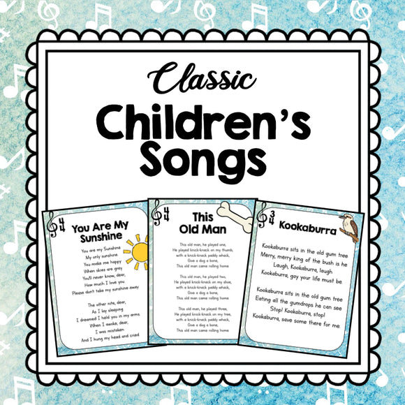 Classic Children's Songs for the Classroom