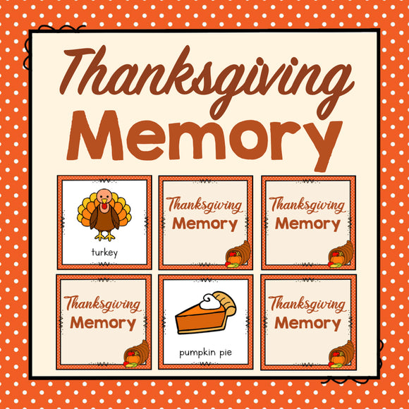 Thanksgiving Memory Game
