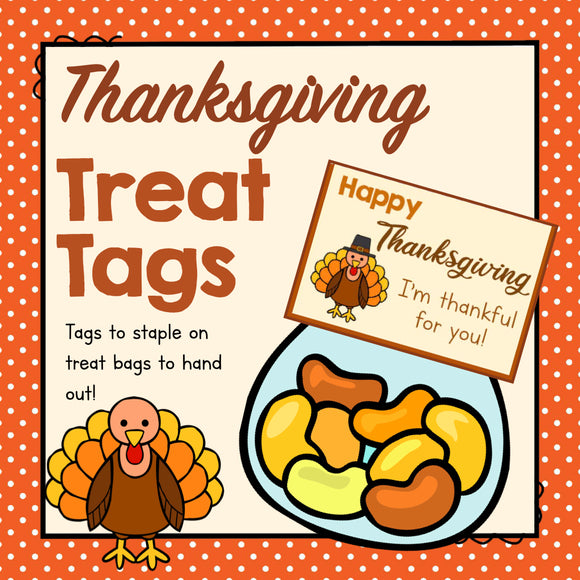 Thanksgiving Treat Tags