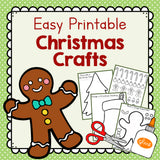 Easy Printable Christmas Crafts: Christmas Tree, Gingerbread Man, and Stocking