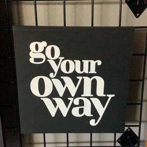 Go your own way 12x12
