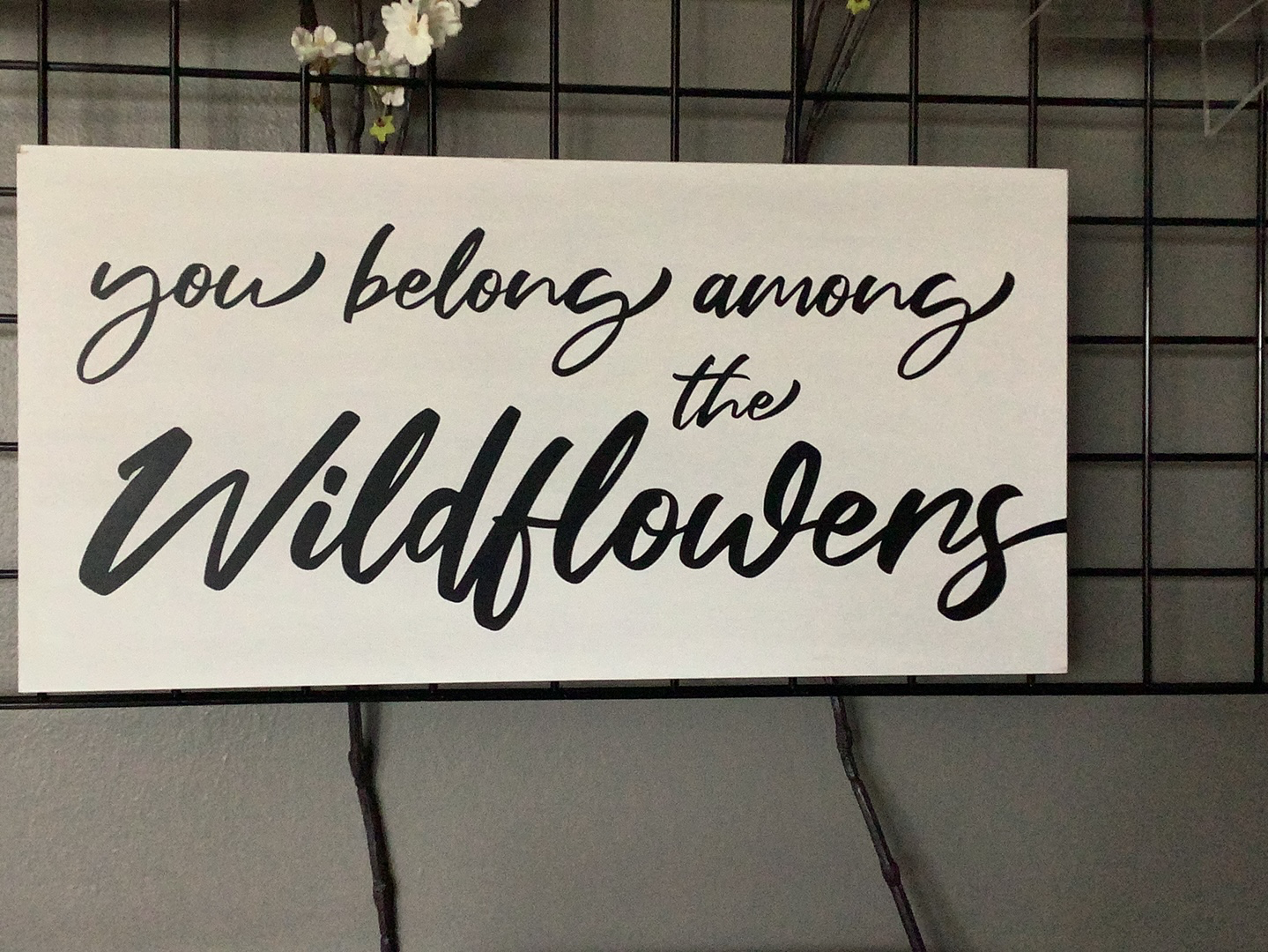 Wildflowers sign 24x12