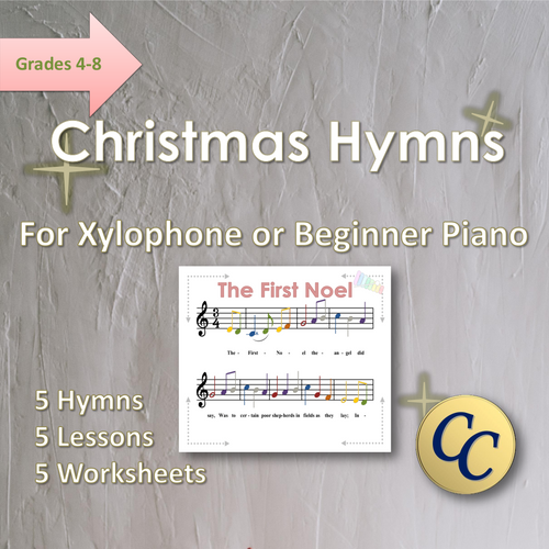 Christmas Hymns for Xylophone or Beginner Piano