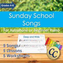 Load image into Gallery viewer, Sunday School Songs Music Lessons Homeschool Curriculum