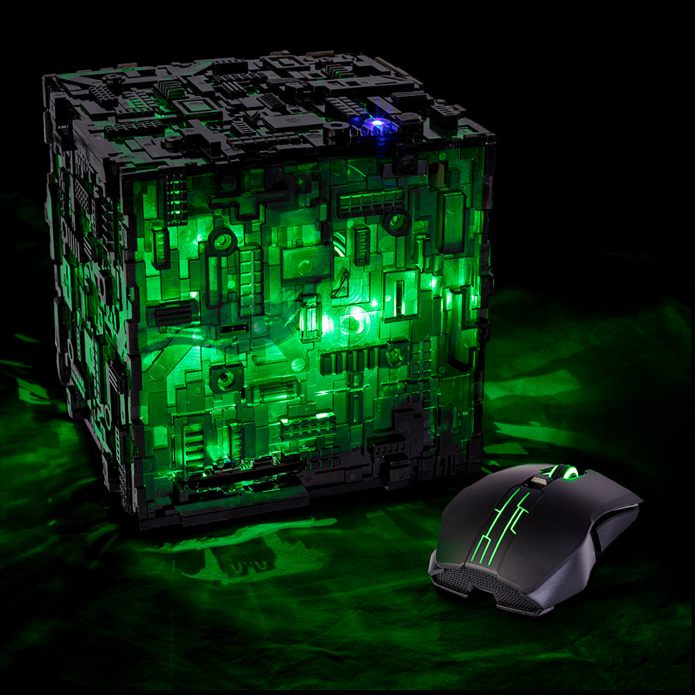 Star Trek Borg Micro Cube in Translucent color option | Borg Cube Computers and Cases by CherryTree Inc.