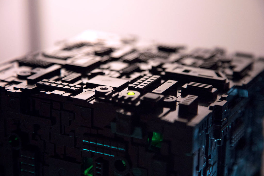 Detail of Star Trek Borg Micro Cube Pentium | Borg Cube Computers and Cases