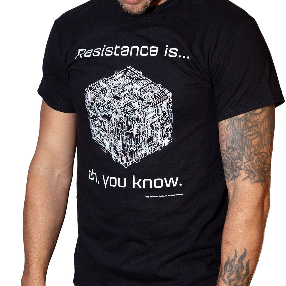 Resistance is... | Borg T-Shirt | Officially Licensed Star Trek Products by CherryTree Inc.