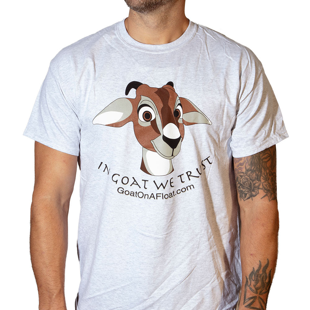 Goat On A Float™ (Grey) | Original T-Shirts by CherryTree Inc.