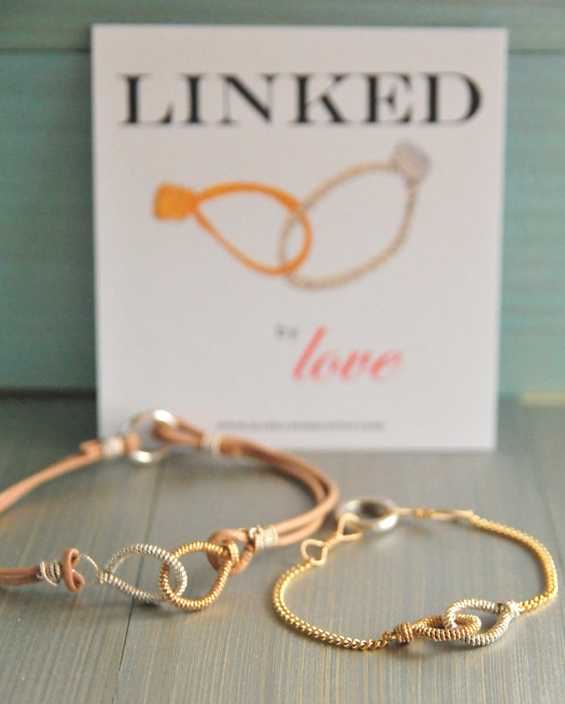 His and Hers Love Link Bracelets