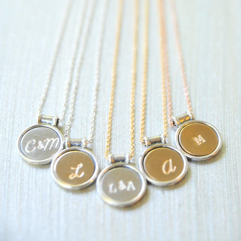 Unique Keepsake pendant initial jewelry by bare and me/ initial pendant gifts/ Bridesmaid gift ideas