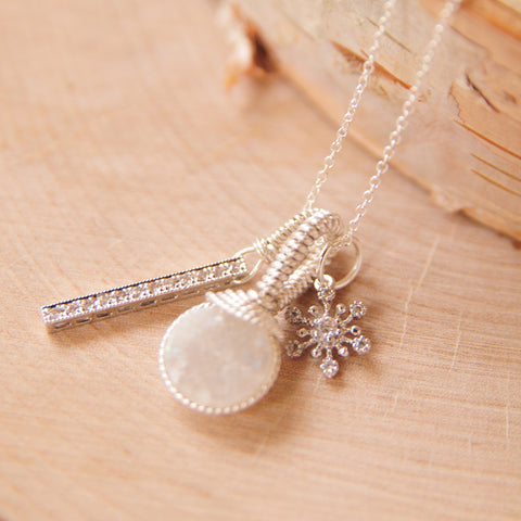 Snowflake Druze Charm Collection