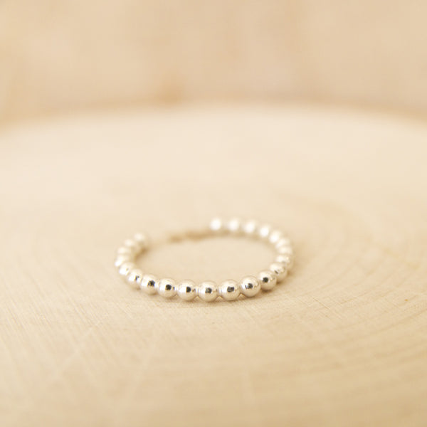 Sterling Silver Beaded Ring/Stacking Rings