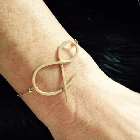 Large Ampersand Bracelet/Ampersand Jewelry/Handcrafted Ampersand Jewelry