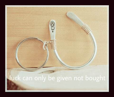 Sterling Silver Horseshoe Keychain