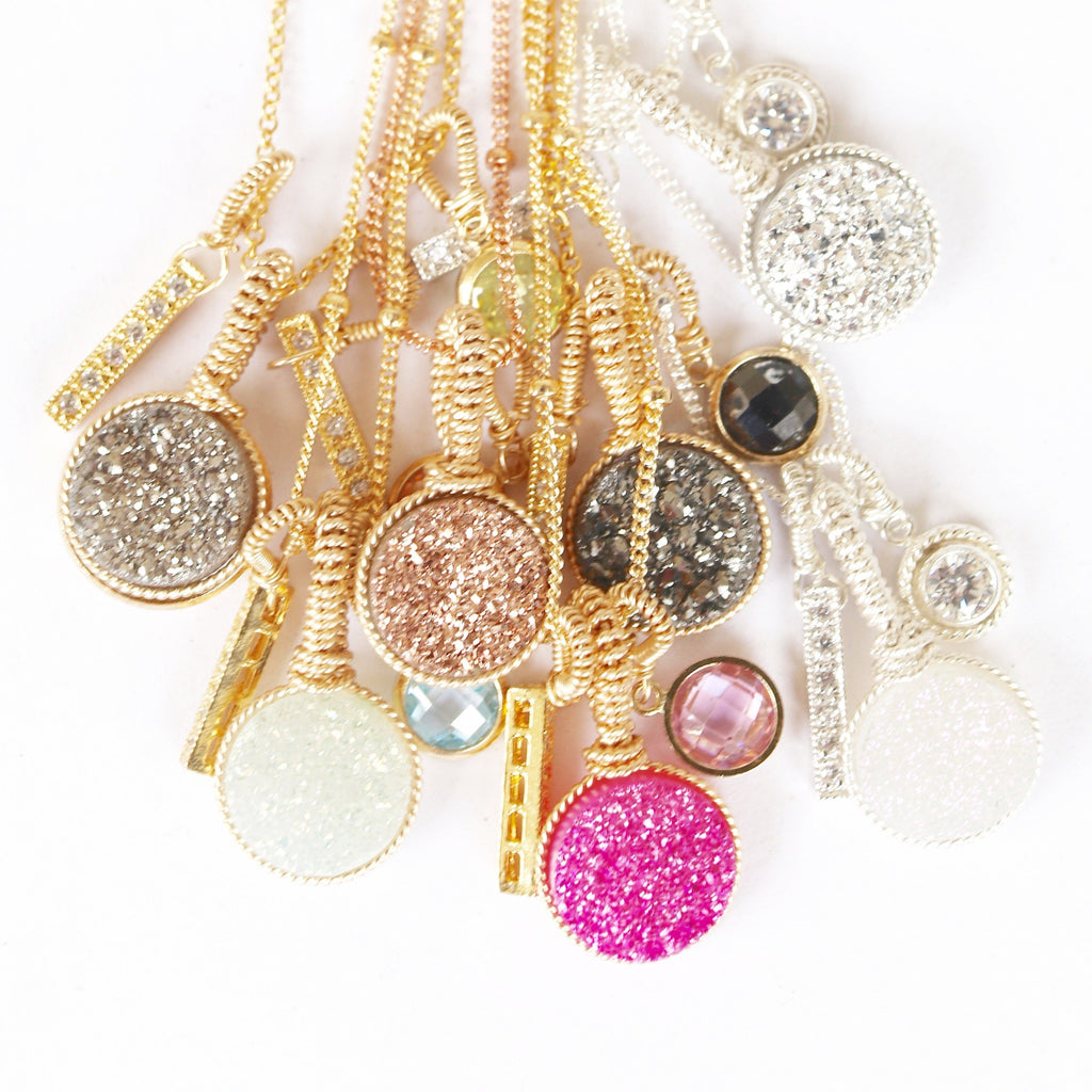Pop of Color Custom Druzy Necklaces