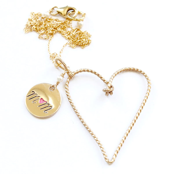 A Mothers Day Heart Necklace Collection