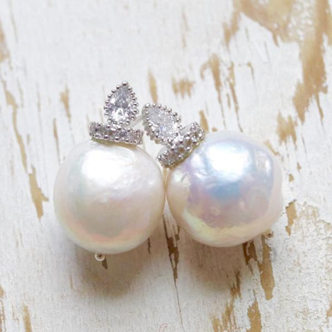 Handcrafted Bridal Baroque Pearl Earring