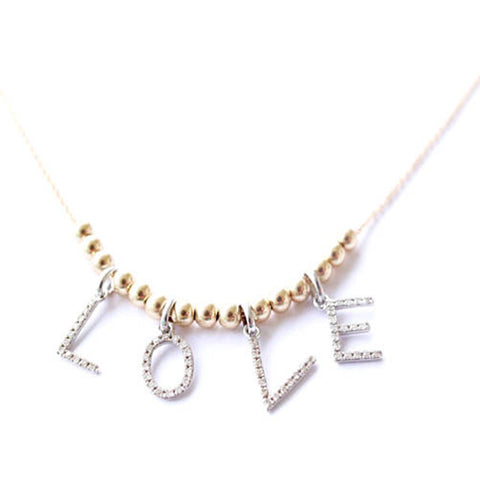 Diamond Love necklace by Bare and Me