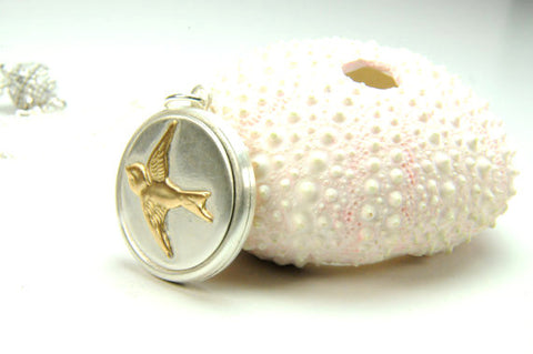 Everlasting LOVE pendant Featuring our Swallow Keepsake Pendant