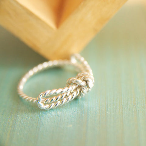Tie the Knot Ring in Sterling Silver