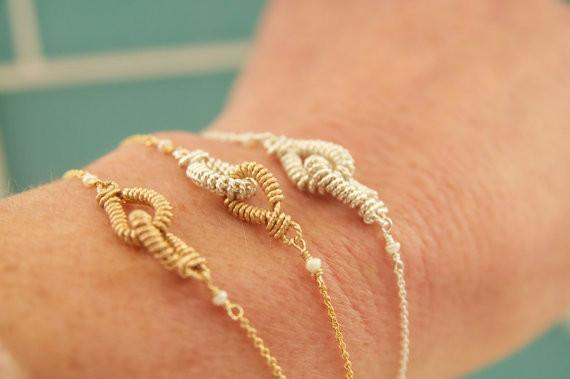 Dainty Everyday Eternity Love Bracelets Handcrafted by Bare and Me