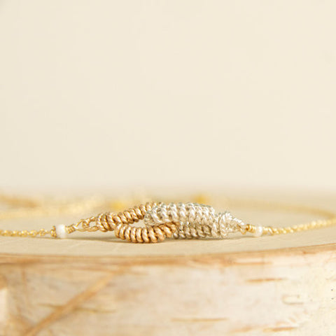 Dainty Love Link Bracelets Handcrafted by Bare and Me