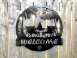 Tropical Beach Welcome Sign