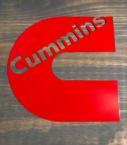 Cummins Diesel wall hanging Metal sign