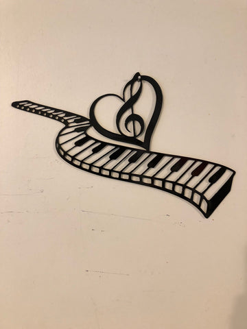 Keyboards Piano metal sign