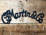 Martin & Co. guitar themed wall sign (Outline)