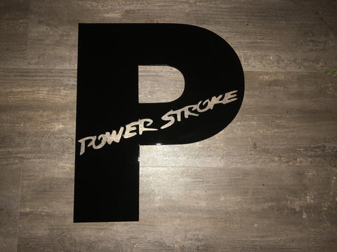 "Ford Power Stroke ""P"" Diesel Wall sign"
