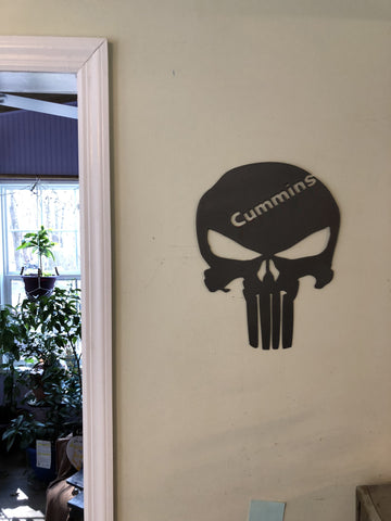 Punisher with Cummins Logo sign
