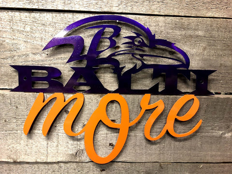 Baltimore Ravens/Orioles commemorative wall sign