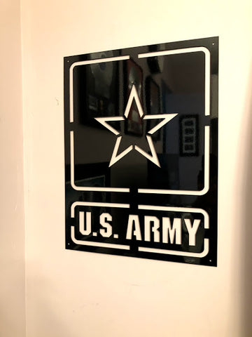 US Army Commemorative Wall Sign
