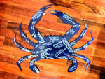 Crab wall sign for beach or boat house