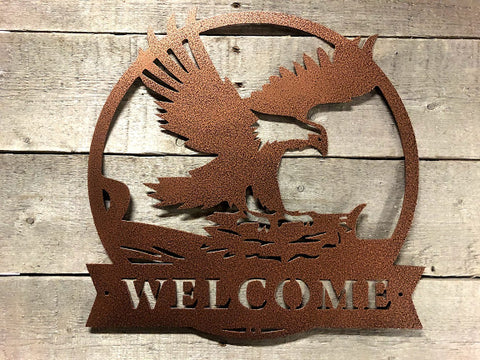 Souring Eagle Welcome Sign